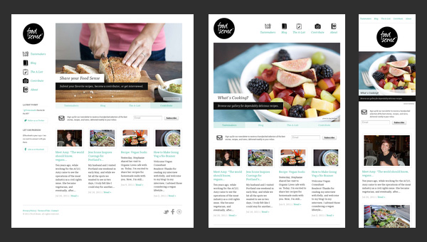 Example of Responsive Web Design: http://foodsense.is/
